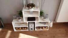 3er-Set neue weiße Apfelkisten mit Zwischenboden/ Holzkiste/ Obstkiste/Weinkiste