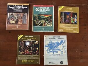 Lot of 5 Dungeons & Dragons Books