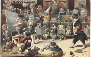 Dogs Academy  # 47 by Louis Wain in Cats Academy Series by W.E.Mack.