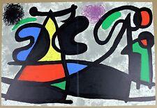 JOAN MIRO Lithograph 1970 Untitled Original Color Art from Derriere le Miroir #1