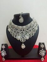 Indian Bollywood Style Fashion Wedding Bridal Jewelry Necklace Set Earrings