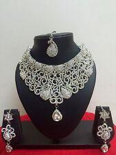 Bridal Jewelry Necklace Set Earrings Indian Bollywood Style Fashion Wedding