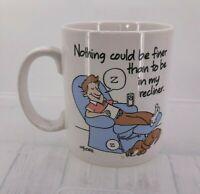 Hallmark Shoebox Greetings Coffee Mug Cup Dad Recliner Dog DW Safe Microwave
