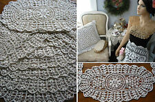 12psc  Shiffi Lace  Doilies Chabby Victorian Vintage Wedding Arts & Crafts prjct