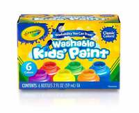 Crayola Washable Kids Paint Pack of 6