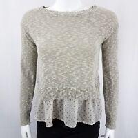 Maison Jules Women's Sweater Size Small Long Sleeve Layered Gray