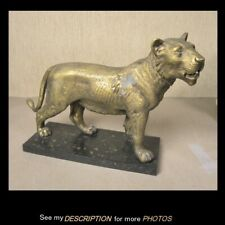 New listing Antique Cast Iron and Metal Figural Lion Doorstop