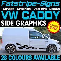 VW CADDY GRAPHICS STICKERS STRIPES DECALS DAY VAN HIGHLINE R LINE VOLKSWAGEN