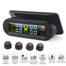 Car Tire Tyre Pressure Monitoring System Wireless Solar TPMS External 4 Sensor