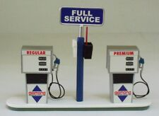 GAS Station Island with 2 GAS PUMPS Garage Diorama 1:18 Scale Display Accessory