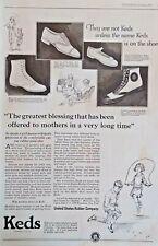 1920s Keds Shoes Photo Footwear Fashion Art Large Vintage Print Ad