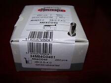 250 Edelstahl A2 V2A Blindnietmuttern M4 Flachkopf offen klemmt 2,5-4,0mm #PL002