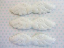 40 Pairs White 7.5cm Small Angel Wing Faux Fur Applique/Trim/craft/doll H405-3""