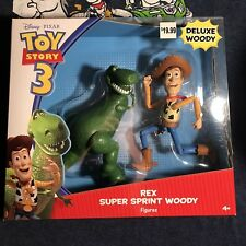 Toy Story 3 Action Figure - Rare - Super Sprint Woody And Rex