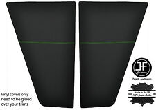GREEN STITCHING 2x REAR SIDE TRIM PANEL VINYL COVERS FITS VW T25 T3 WESTFALIA