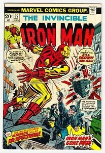 IRON MAN #65 BRONZE AGE MARVEL 1973 COMBINE SHIPPING  VF/NM 9.0