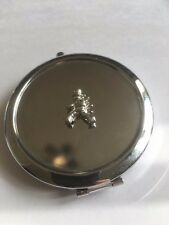 Window Cleaner TG320A Fine English Pewter on Round Shape Compact Mirror