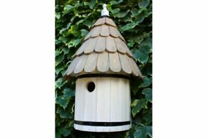 Dovecote Bird Box | Wooden Shabby Chic House Nesting Style Wall Mounted Garden