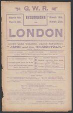 QUEENS PARK RANGERS FC 1910-1911 RARE ORIG RAILWAY HANDBILL C PALACE & SWINDON
