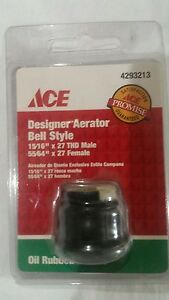 DESIGNER AERATOR BELL STYLE OIL RUBBED BRONZE NEW IN PACKAGE ACE HARDWARE