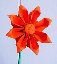 Origami paper Gerbera daisy flowers Holiday Wedding Bouquet Centerpiece Decor