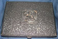 Vintage Naken'S Silverware Chest (Only) Hinged Airtight Silver Textured Hunter
