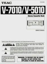 Teac V-7010 / V5010 Cassette Tape Player - Operating Instruction - USER MANUAL