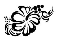Hibiscus Flower  stencil, 350 micron Mylar not thin stuff  #TaT0058