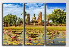 Cuadro Fotografico Lago Buda base madera, 90 x 62 cm, Buda Buddha Retro