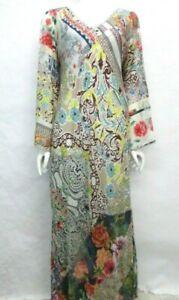 $438 NWT Johnny Was Embroidered Silk Maxi Dress - M - JW94751021