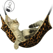 Pet Cat Hammock LARGE Leopard Fur Bed Animal Hanging Dog Cage Comforter Ferret
