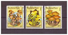 Burkina Faso, Pilze | Mushrooms MiNr. 1054 - 1056, 1985 used gestempelt