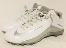 Nike LAX Speedlax 5 Lacrosse Cleats White Silver 807143 100 Men's Size 12