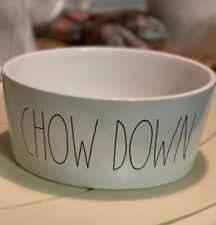 Rae Dunn CHOW DOWN Dog Bowl XL Food Or Water Bowl