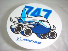 Pudgy Boeing 747 Sticker Genuine Boeing Produced Item