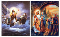 Jesus Christ Calming the Sea & The First Miracle of Christ Two Set 8x10 Wall Art