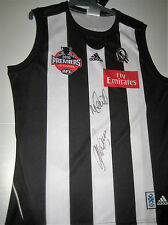NICK MAXWELL & MICK MALTHOUSE HAND SIGNED PREMIERS JERSEY + PHOTO PROOF & COA