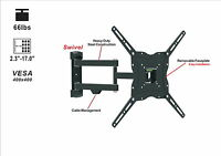 "Full Motion TV Wall Mount Swivel Tilt 20° Bracket 13 32 37 42 46 47 50"" Display"