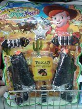 Set cowboy sceriffo 2 pistole Kit gioco di qualità giocattolo toy
