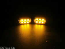 YELLOW 5050 SMD LED PODS  4 PODS 6 LEDS EACH POD FITS CARS  TRUCKS MOTORCYCLES