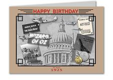 93rd Birthday Card Souvenir of 1925 (2018)