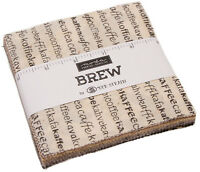 "Brew Moda Charm Pack 42 100% Cotton 5"" Precut Fabric Quilt Squares by Deb Strain"
