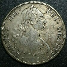 1794 PR Bolivia 8 Reale Milled Bust Potosi Colonial Crudly Struck Moneda Dollar