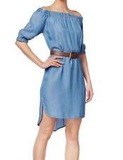 Michael Kors NEW Light Blue Womens Medium M Off-Shoulder Sheath Dress $140- 268