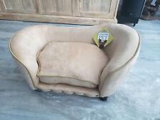 Enchanted Home Pet Caramel Ultra-Plush Snuggle Pet Sofa for a small dog