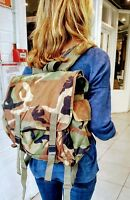 Camo day bag or backpack - vintage genuine army surplus 1980s/90s