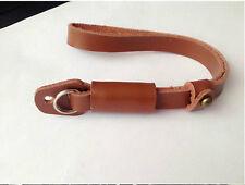NEW Genuine Leather Hand Wrist Strap For DSLR Leica Canon Nikon Panasonic brown