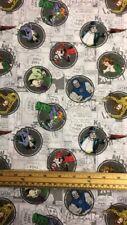 Fat Quarter DC Comic III Villain Circles 100% Cotton Quilting Sewing Fabric