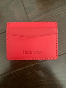 New HENNESSY Red Leather Money Card Holder - Chinese Lunar New Year Luck