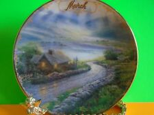 """Thomas Kinkade Simpler Times March - """"Emerald Isle Cottage"""" Plate Excellent Cond"""